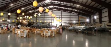 Catering in aircraft hanger
